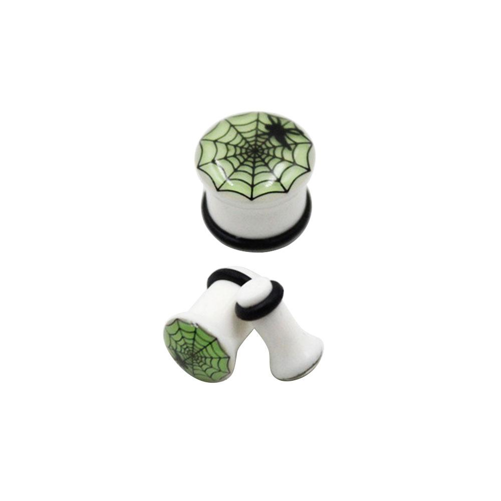 Plug Noctilucent with Spiderweb