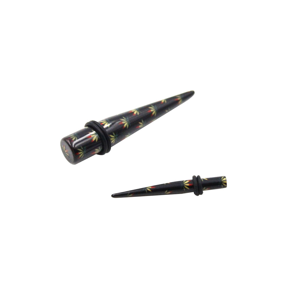 Expander Black with Tricolor Leaves