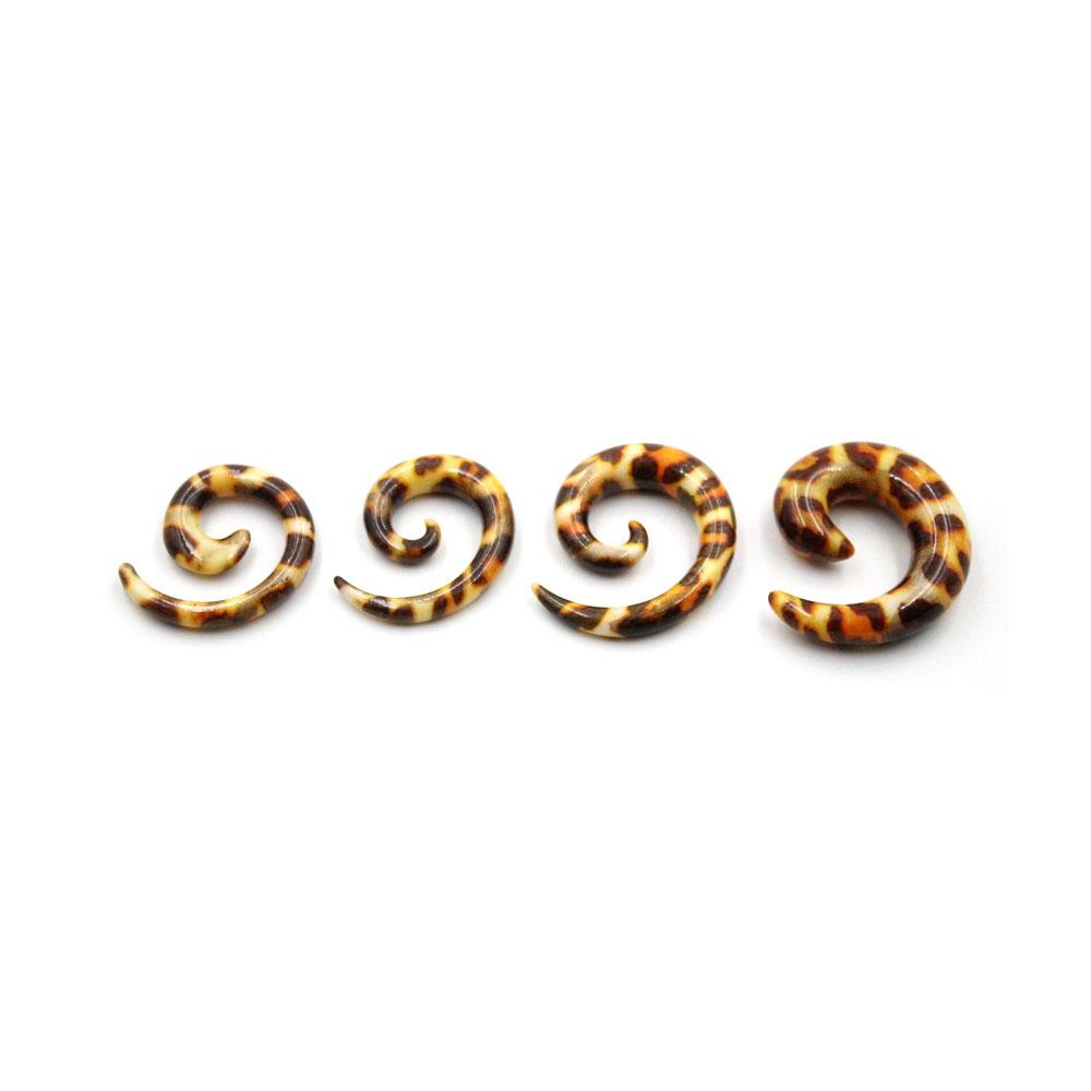 Spiral Leopard Print