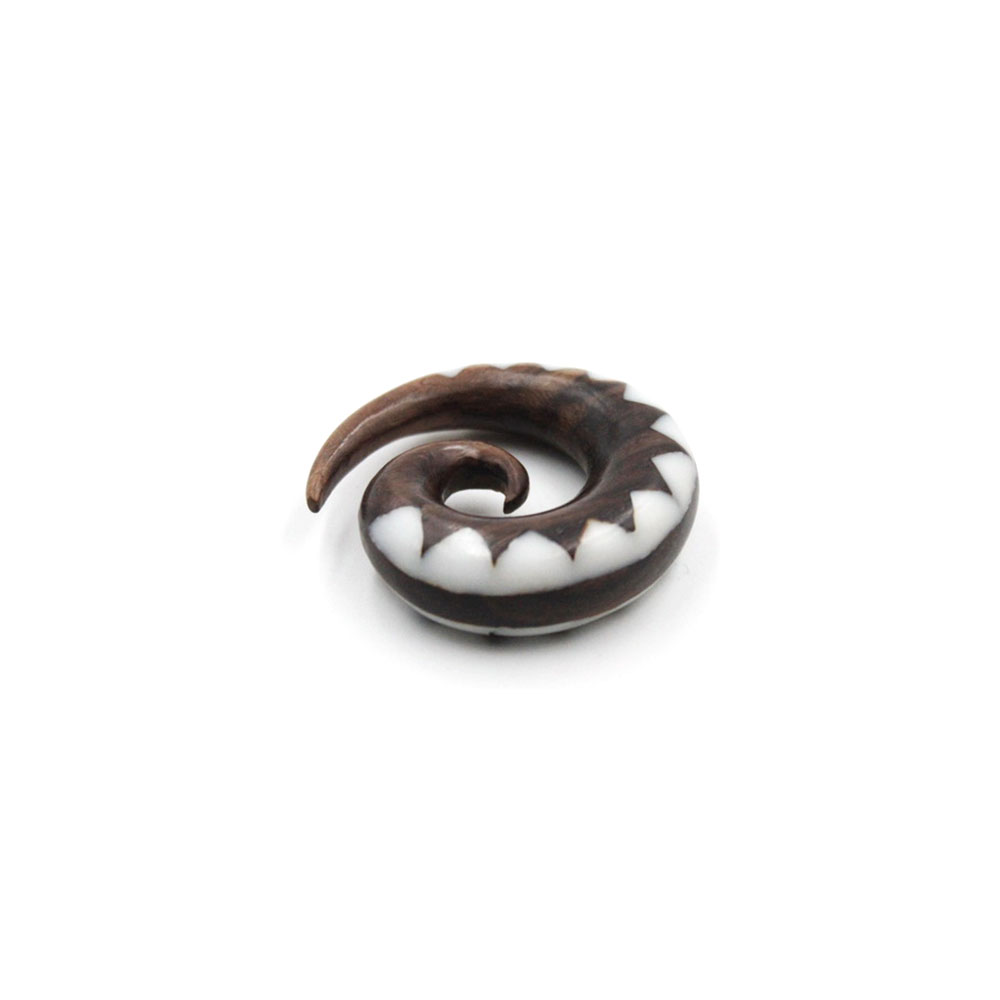Spiral Sandalwood Set in Zigzag Horns
