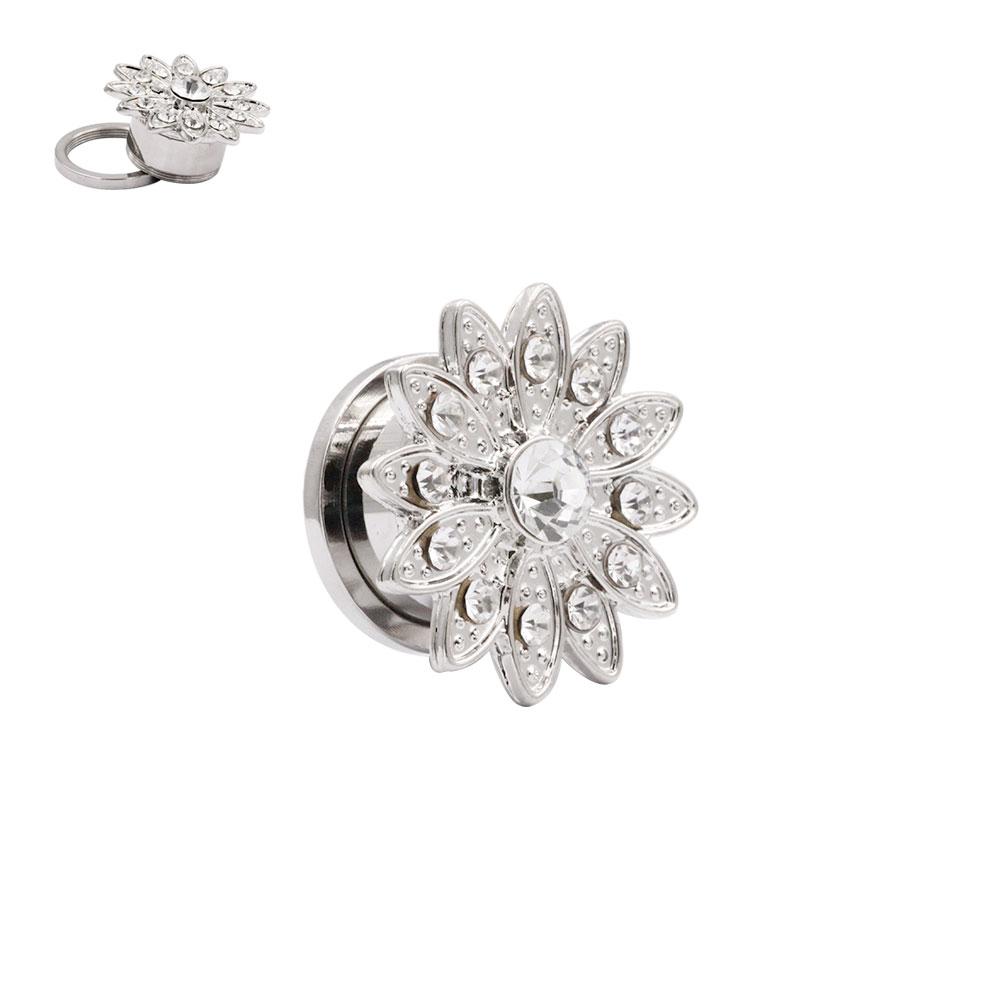 Plug Flower with Crystal