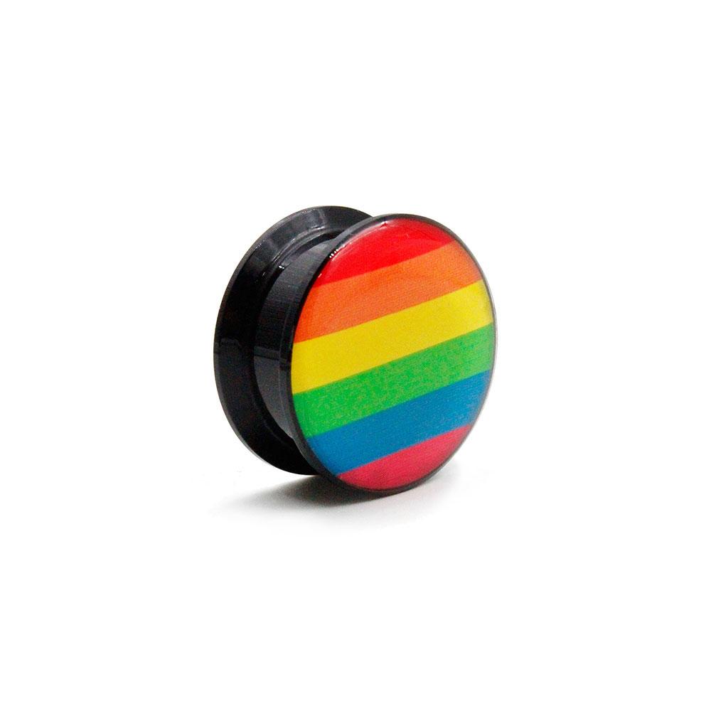 Plug Black with Rainbow
