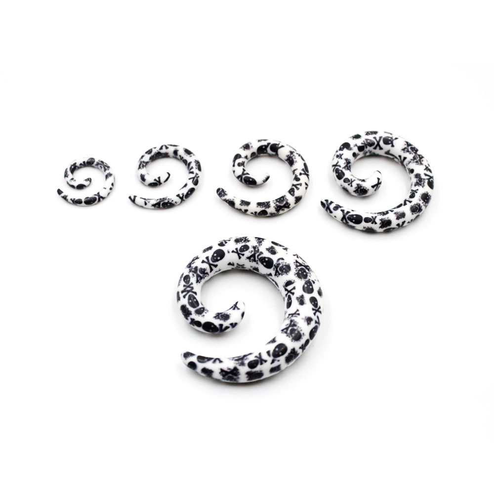 Spiral White with Black Points