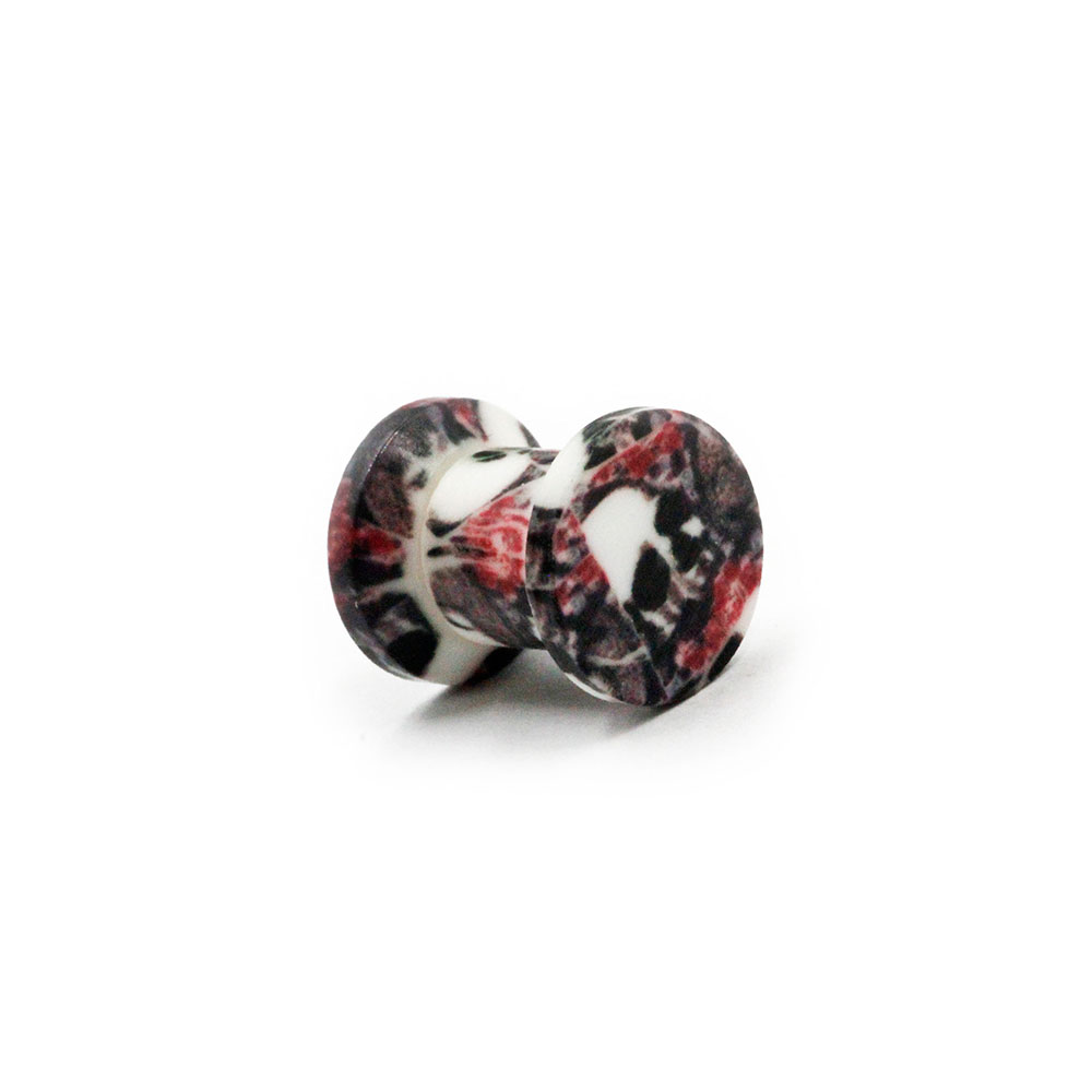 Plug Black and Red with Skulls