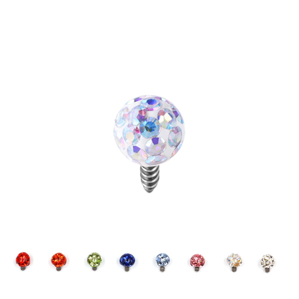 Dermal Anchor Resin Micro Ball with Crystals