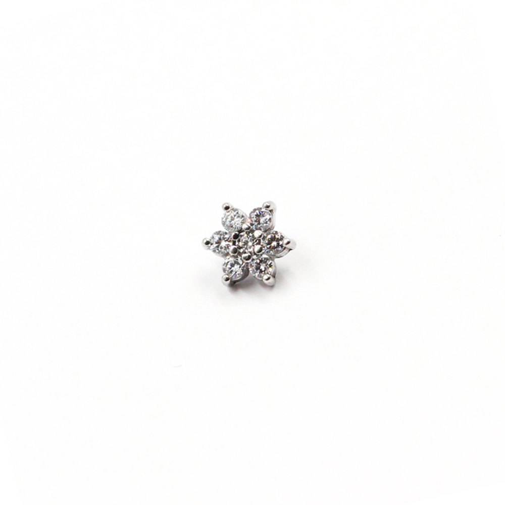 Micro Flower with Crystals for Dermal Anchor