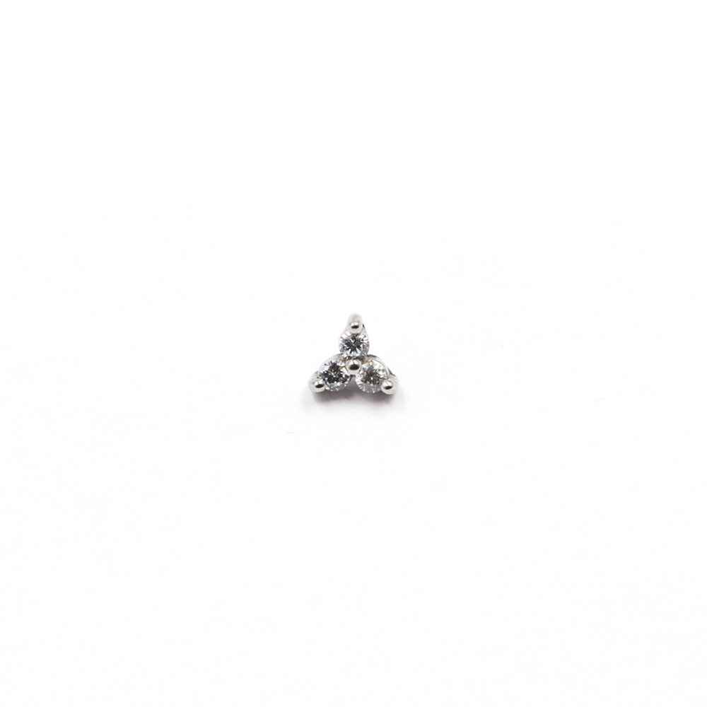 Micro Triangle with Crystals for Dermal Anchor