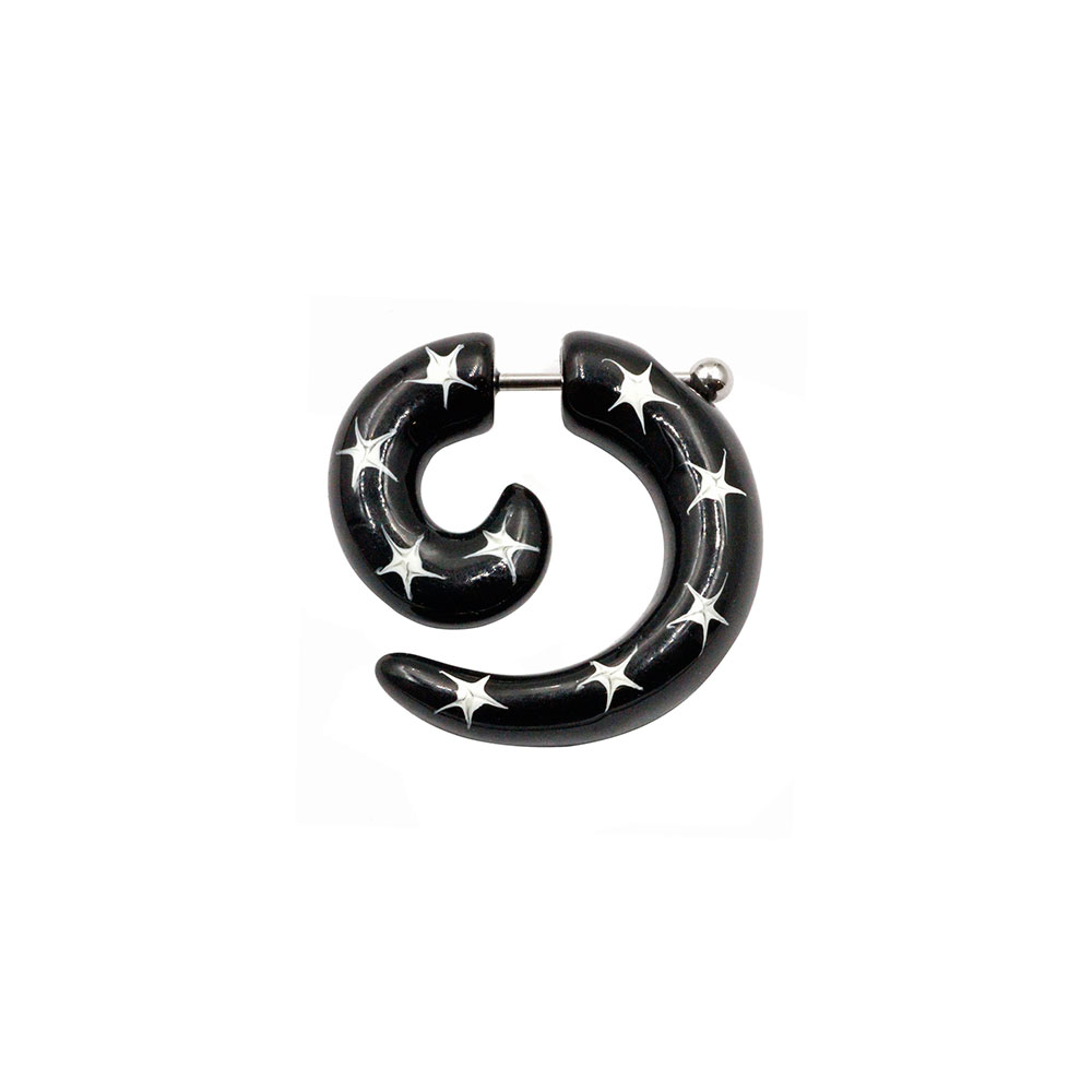 Fake Spiral Black with Stars