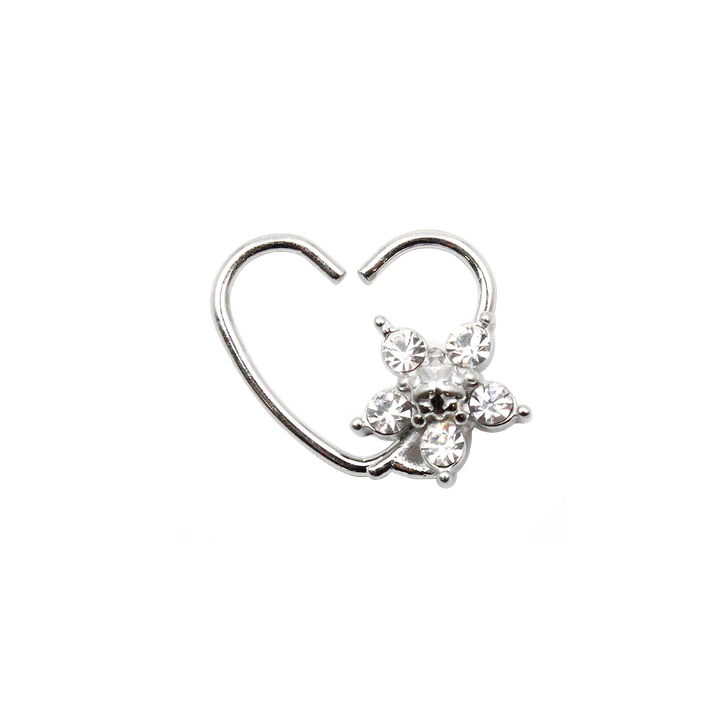 Fake Piercing Heart with Star