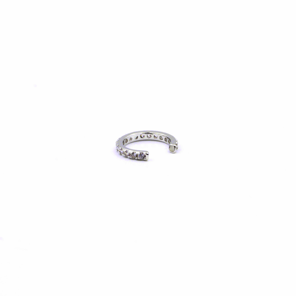 Earring Cuff without piercing, Pave single in Helix / Cartilage with crystal