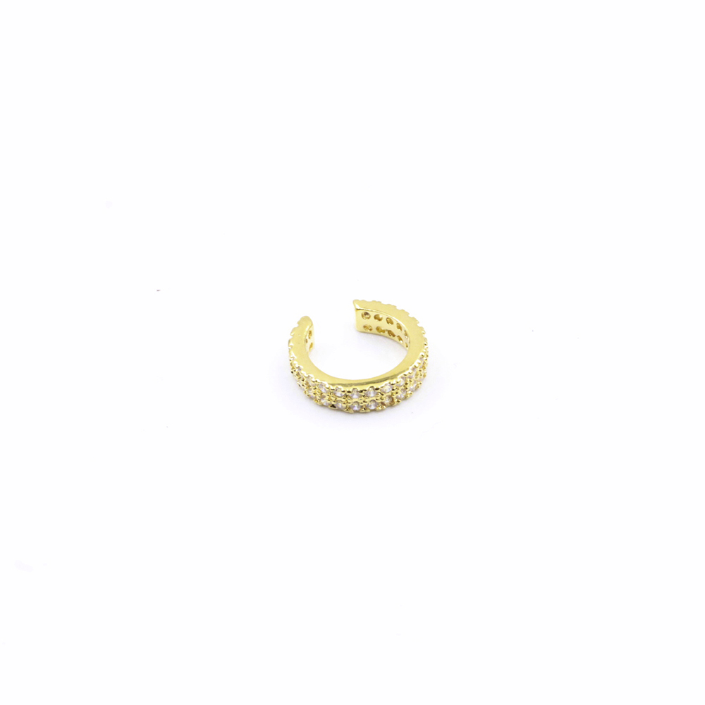 Earring Cuff without piercing, Pave single in Helix / Cartilage with crystals 1Pc