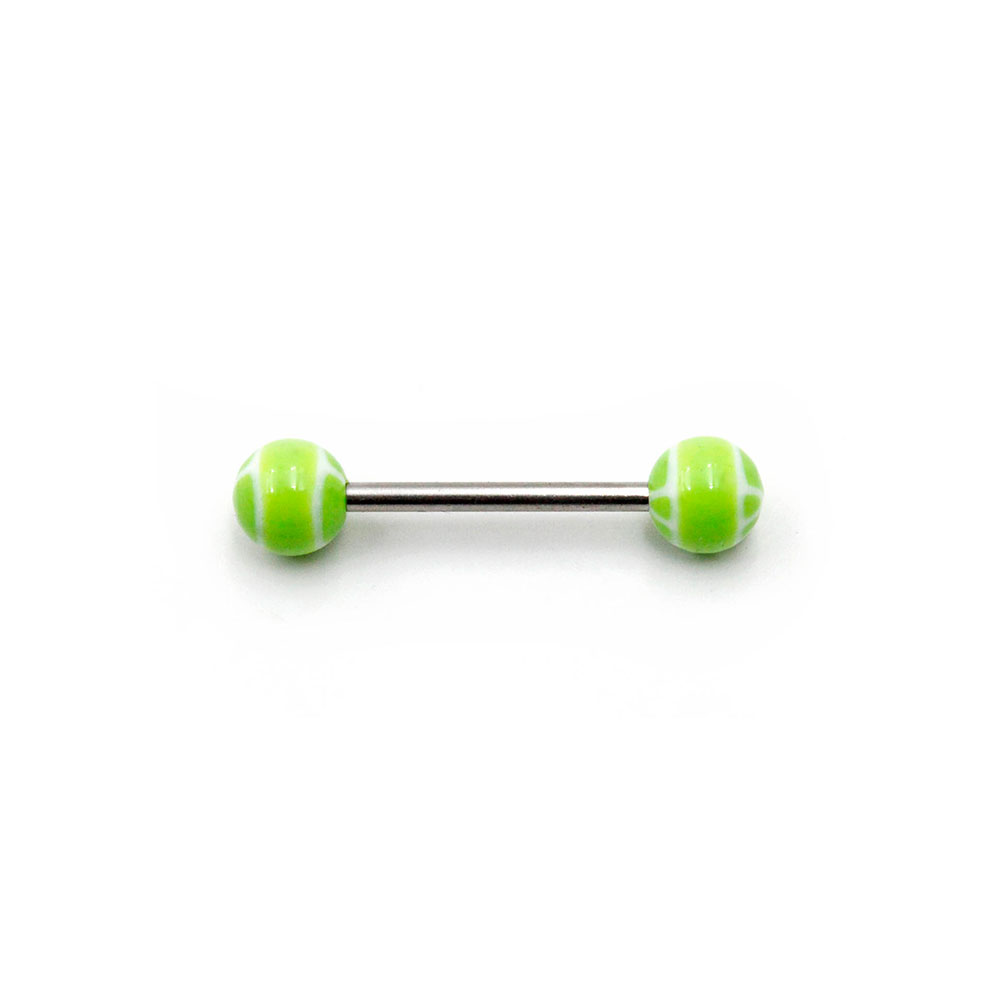 Barbell Black Balls with White Star