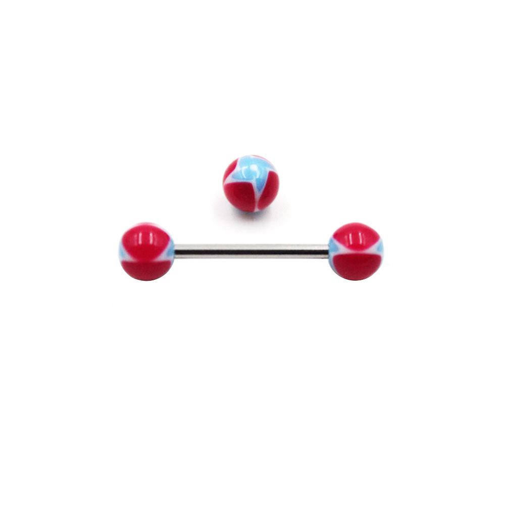 Barbell Red Balls with Blue Star