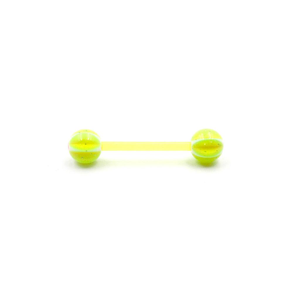 Barbell Acrylic Yellow Balls