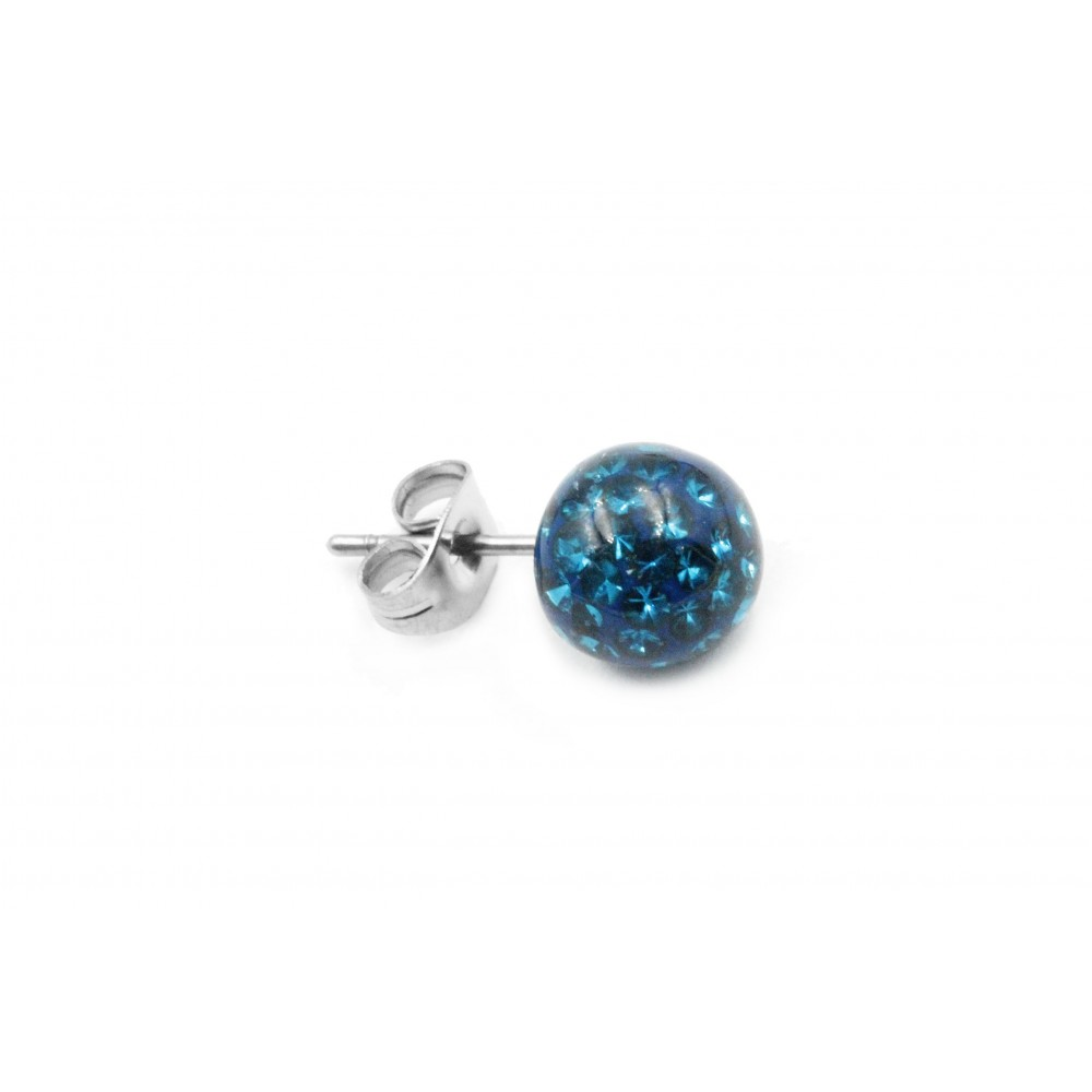 Ear Stud with Multi-Crystal Ball