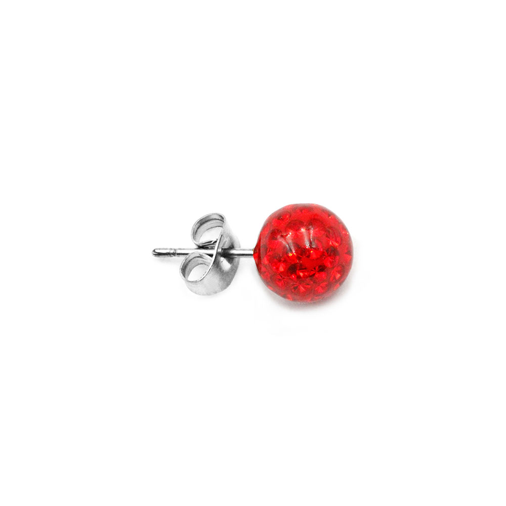 Ear Stud with Multi-Crystal Ball