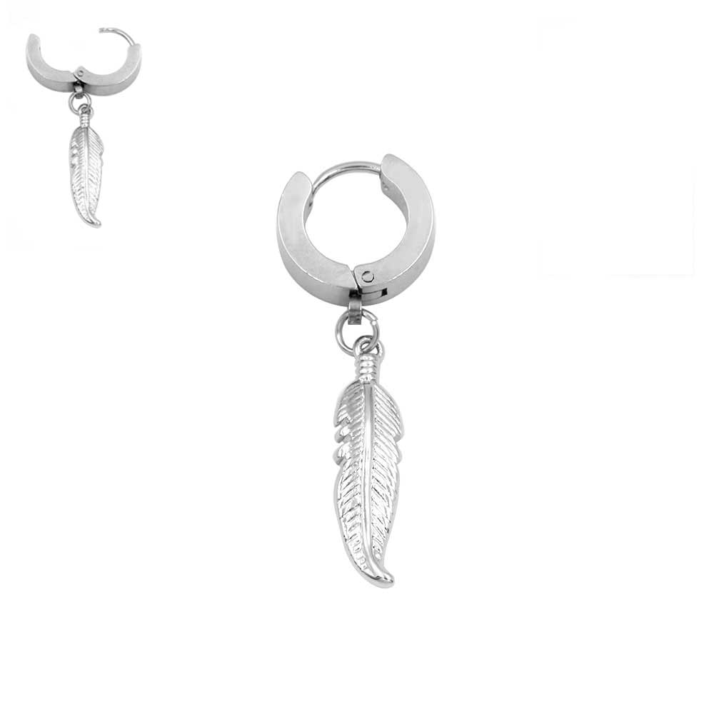 Earring with Pendant Feather