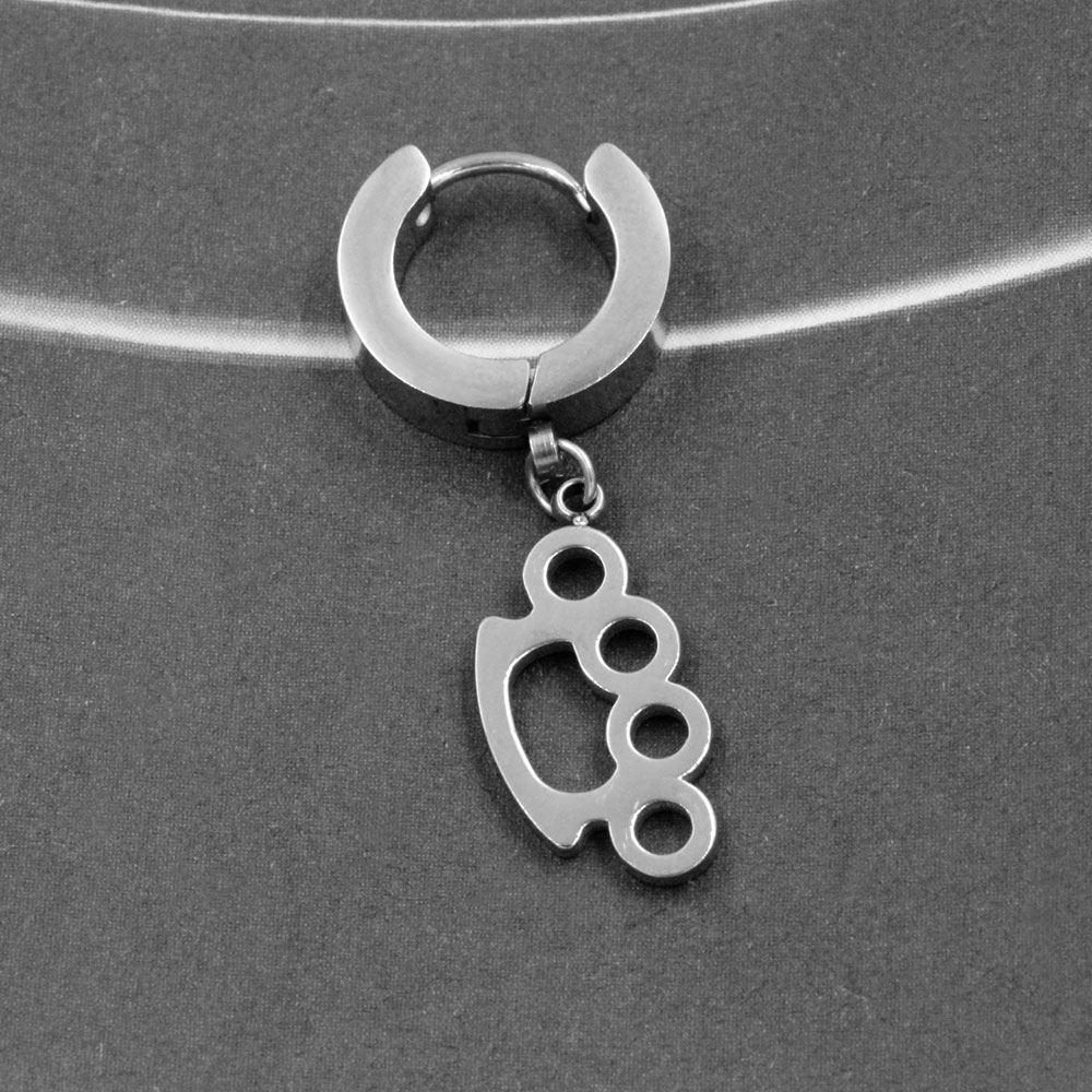 Earring with Pendant Brass Knuckles
