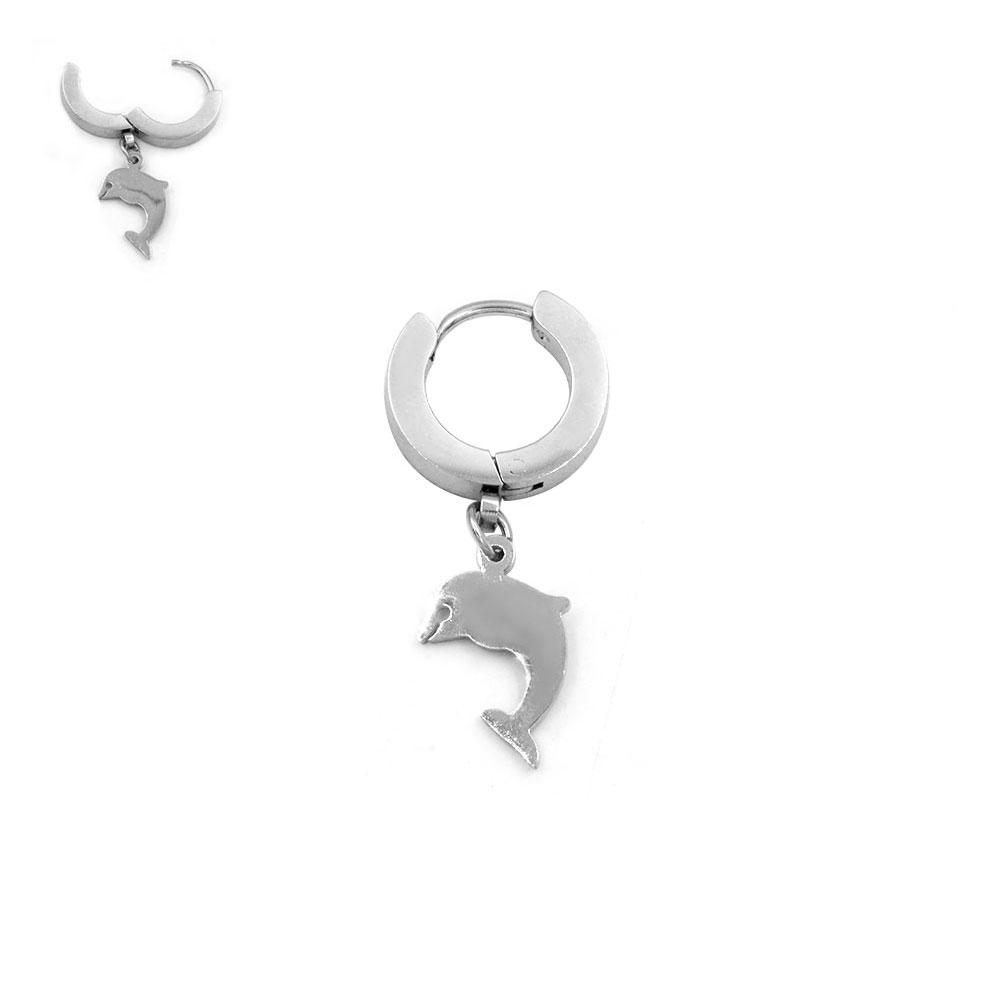 Earring with Pendant Dolphin