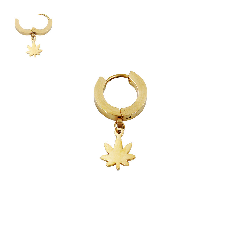 Earring with Pendant Leaf