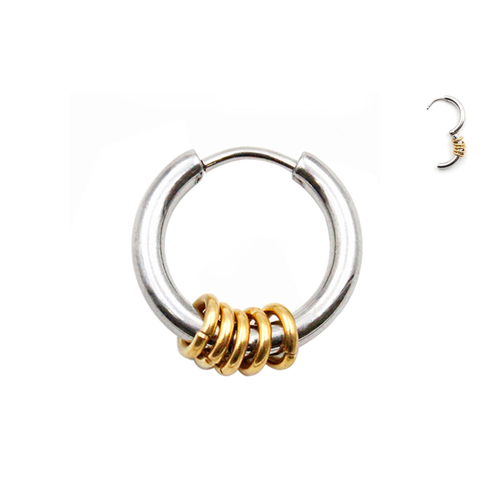 Earring Clicker with Small Rings Gold