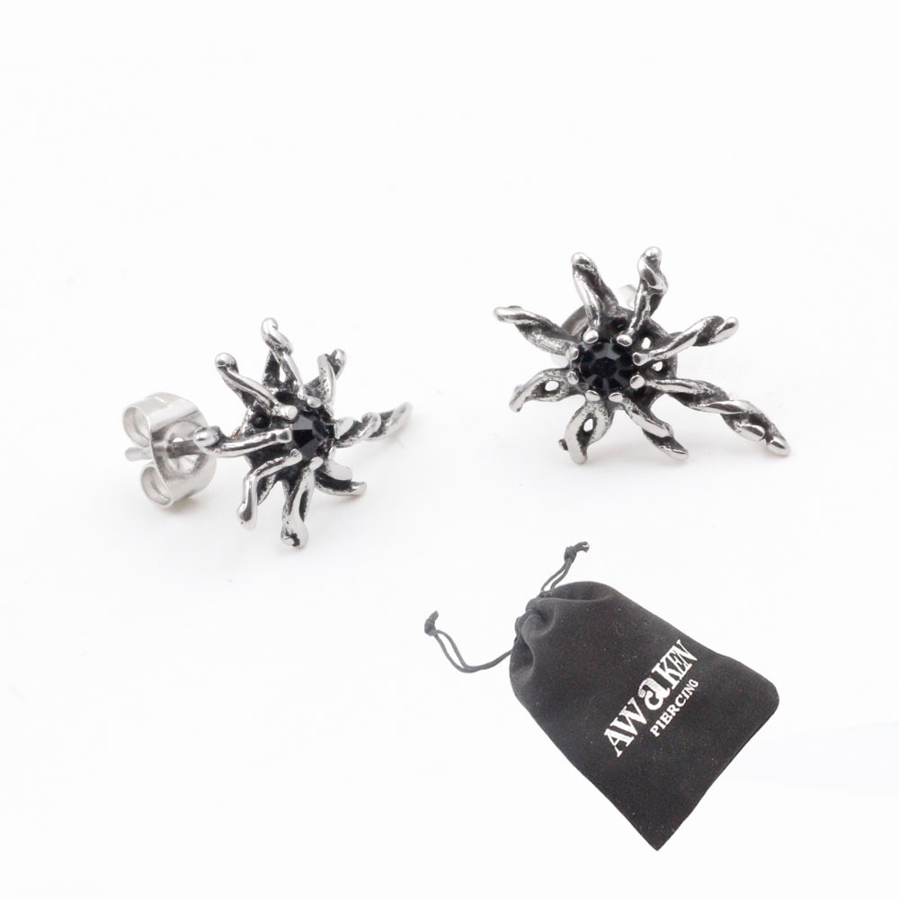 Earrings Stars twinkling shape Silver in Stainless Steel Ideal Gift