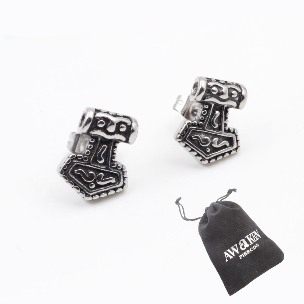Earrings Tomb Shape in Stainless Steel Ideal Gift