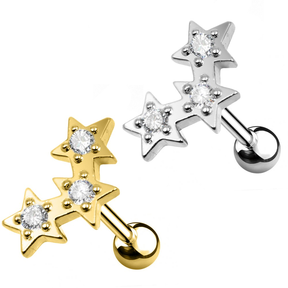 Studs Cartilage Star with crystals