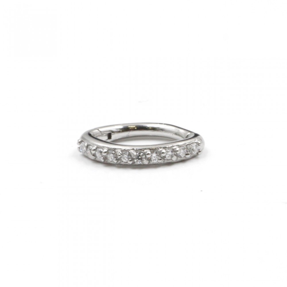 Segmented Circle Ring with Crystals