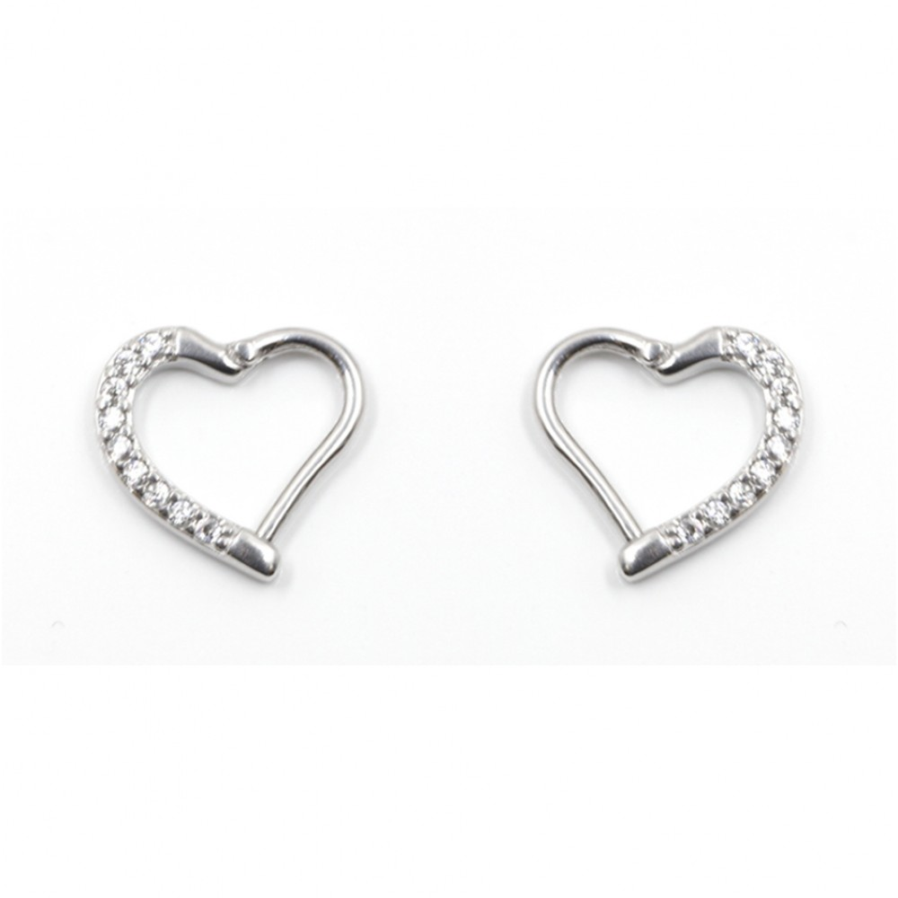 Segmented Heart Ring with Crystals
