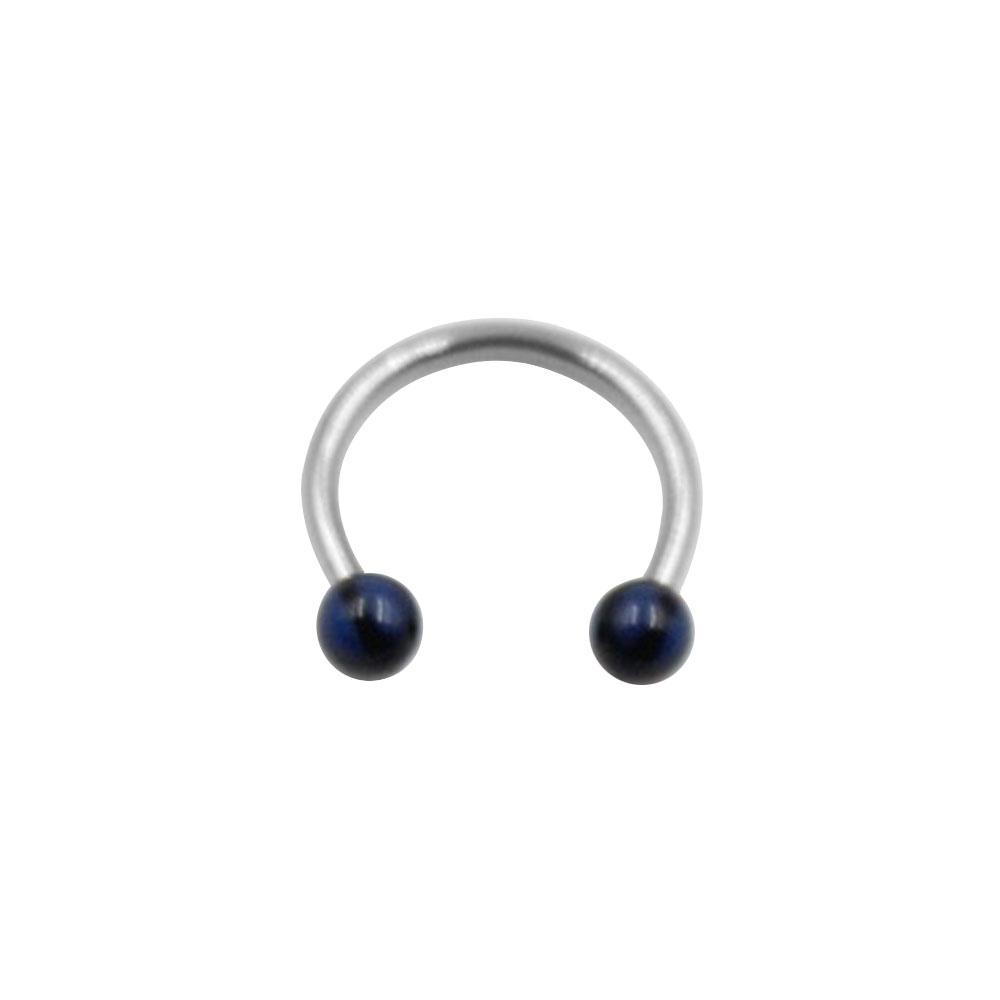 Circular Ring with Small Black and Blue Balls
