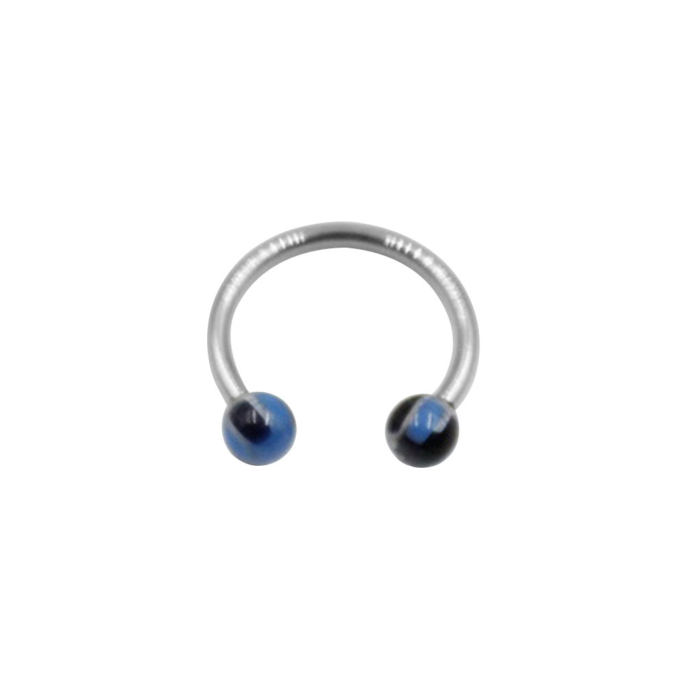 Circular Ring with Small Black and Blue Balls