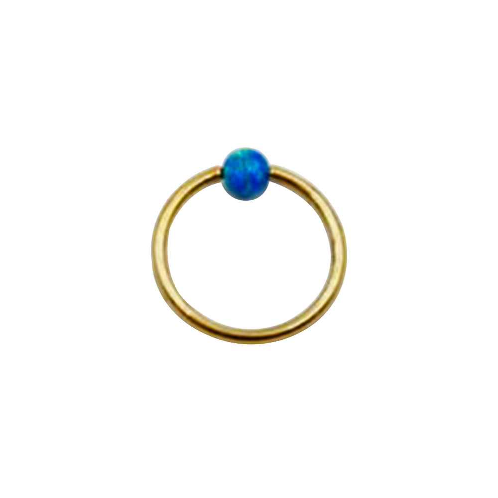 Ring Gold with Opal Closure