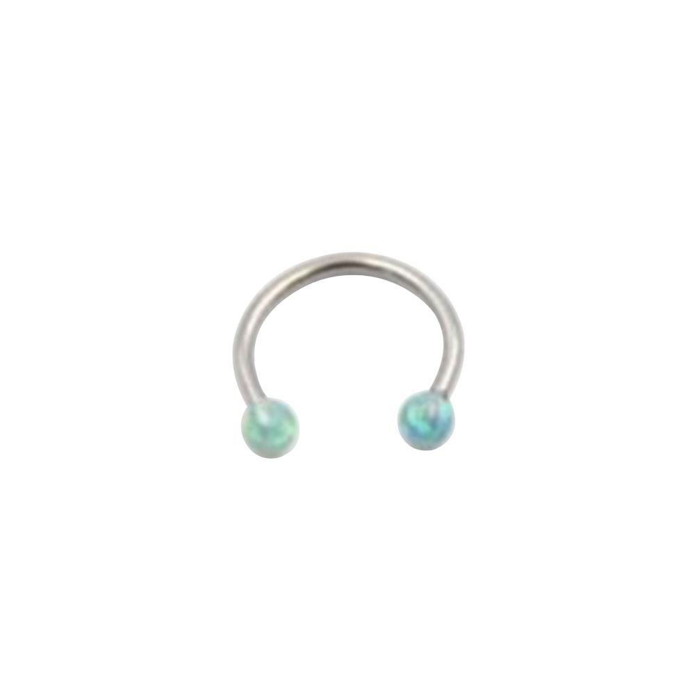 Circular Ring with Opal