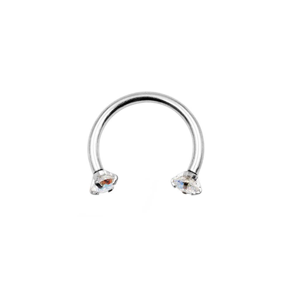 Circular Ring with Zircons