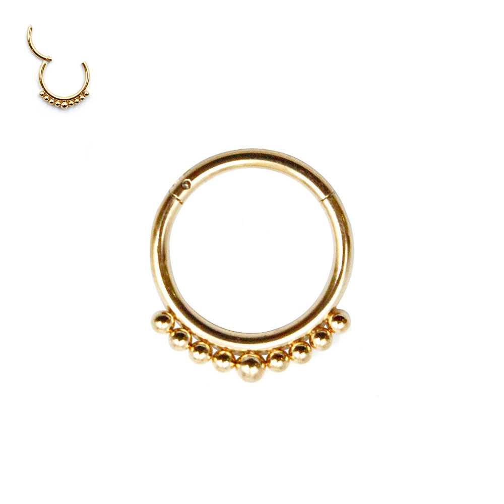 Septum Ring with Beads