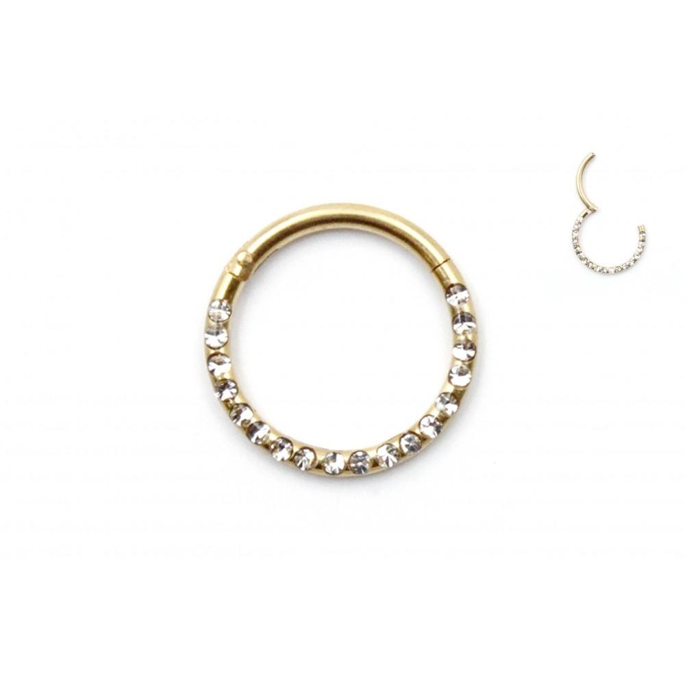 Septum Ring Half Crystals
