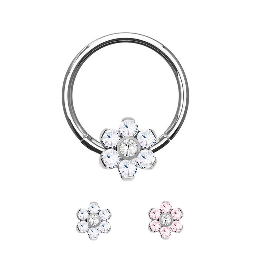 Circular Ring with Crystal