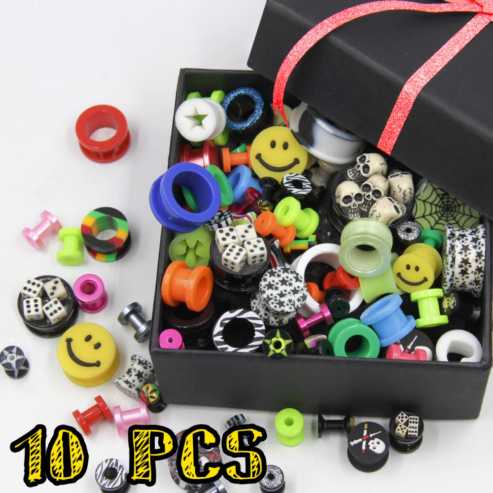 Tunnel Promo Pack of Acrylic and Silicone 10 PCS