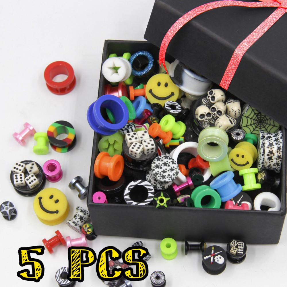 Tunnel Promo Pack of Acrylic and Silicone 5 Pcs