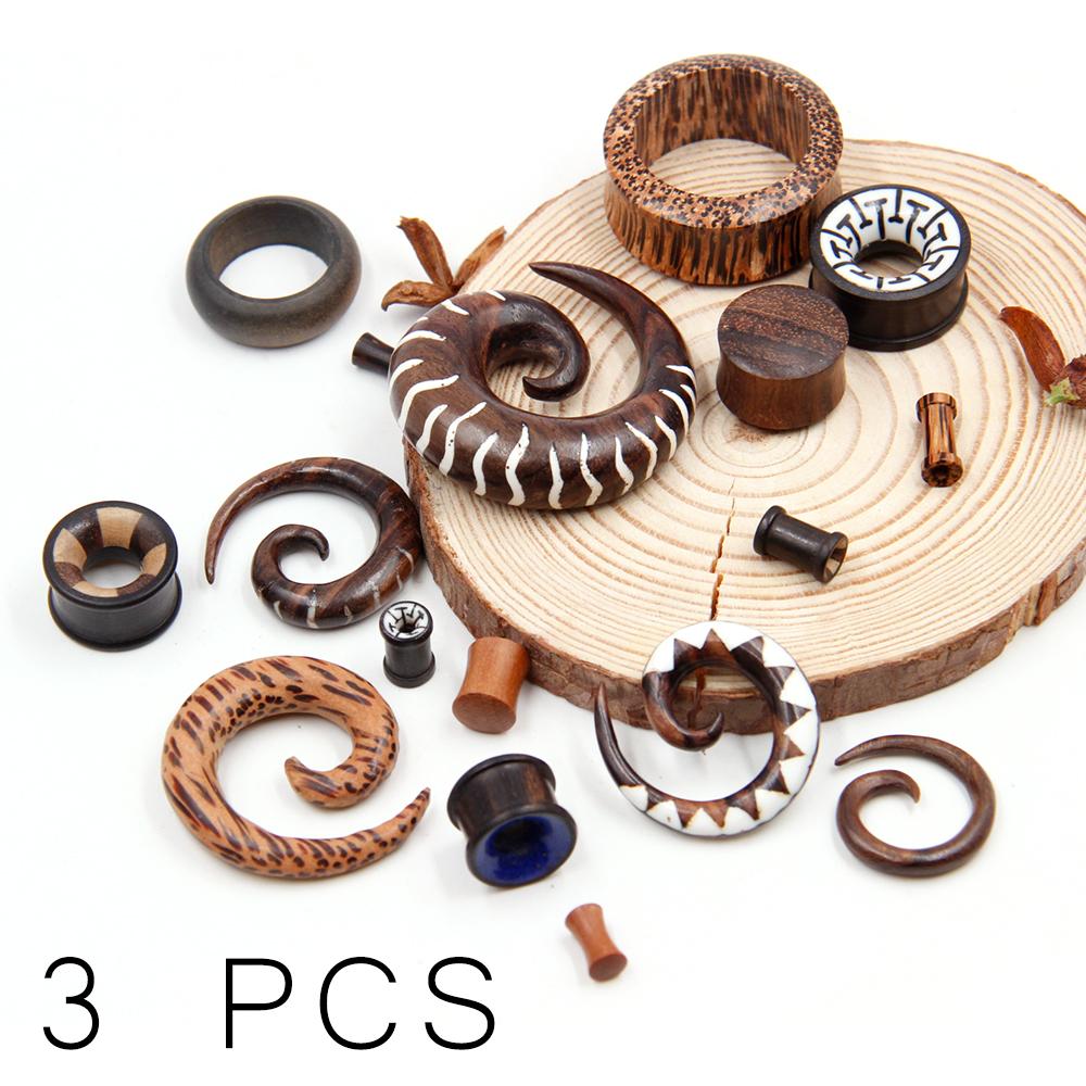 Surprised Wood Plug  Package 3 PCS