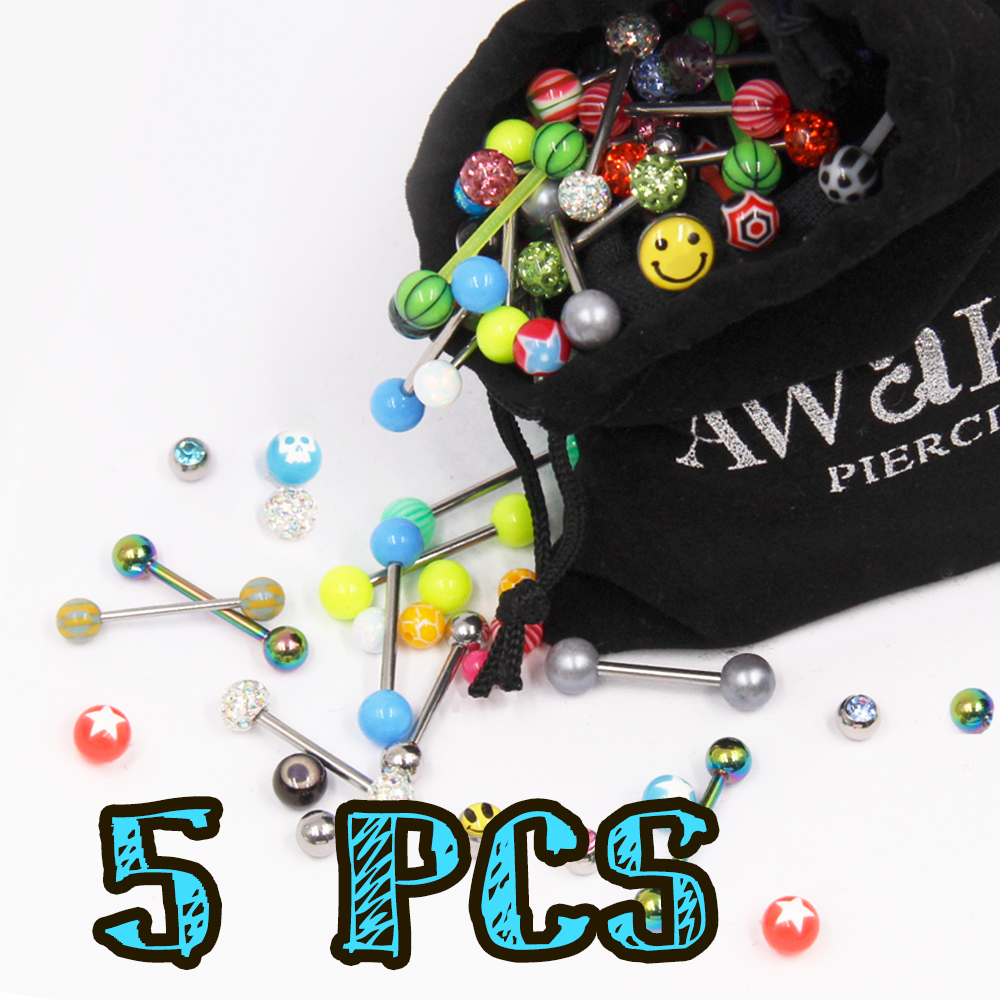Surprised Acrylic Barbell Package