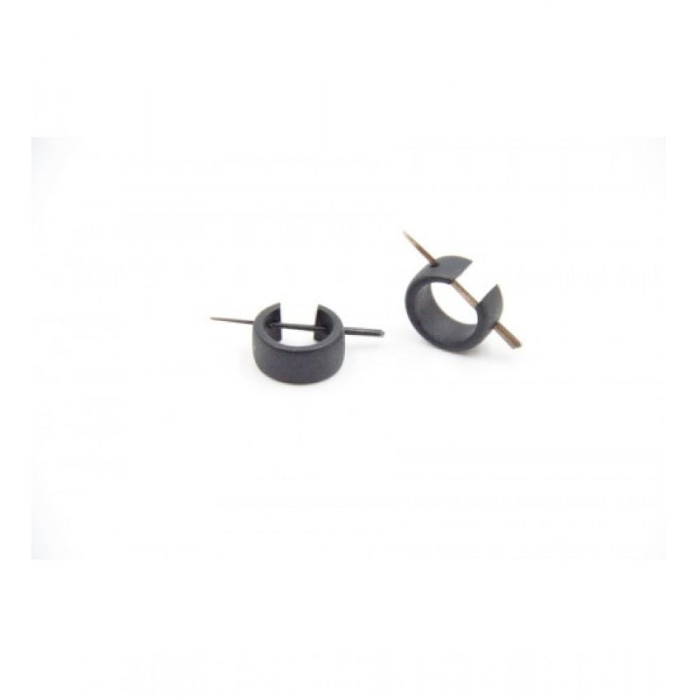 Wooden Earring Black