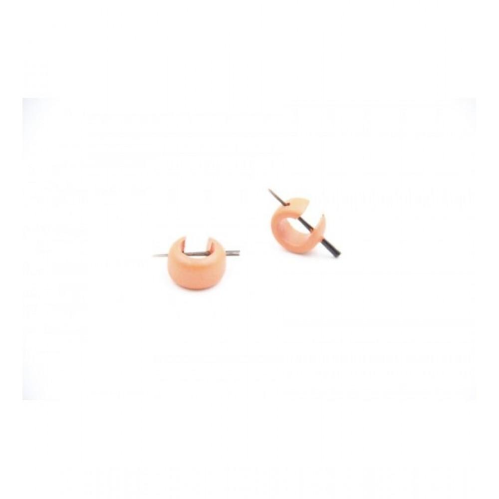 Wooden Earring Orange