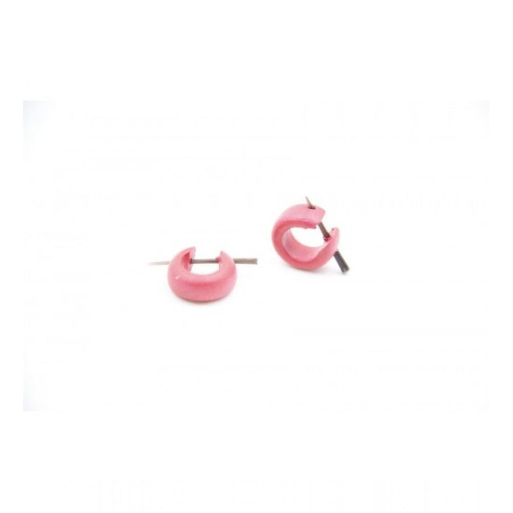 Wooden Earring Pink