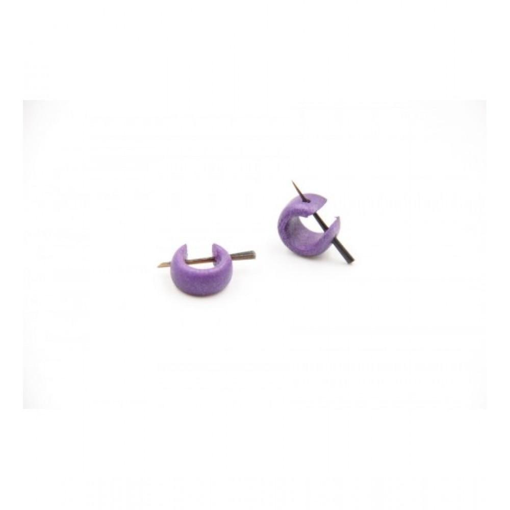 Wooden Earring Violet