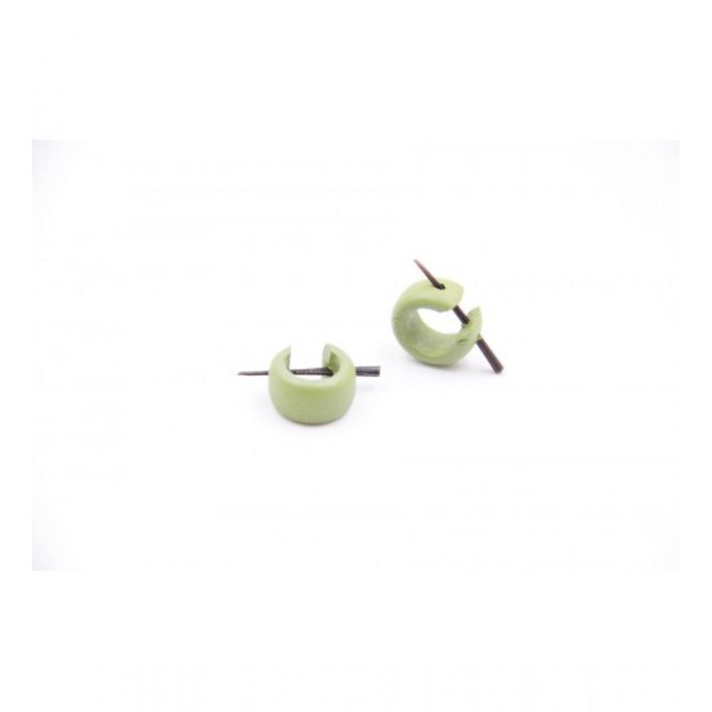 Wooden Earring Green