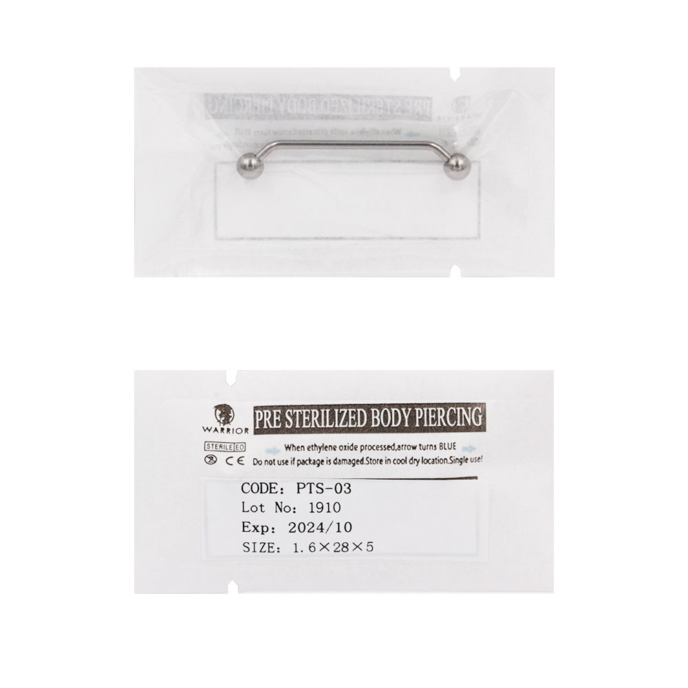 Sterile Titanium Surface Barbell