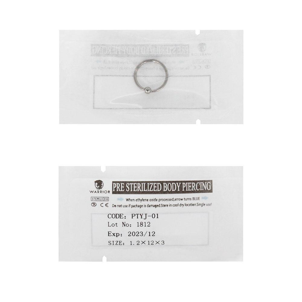 Sterile Titanium Ball Closure Ring