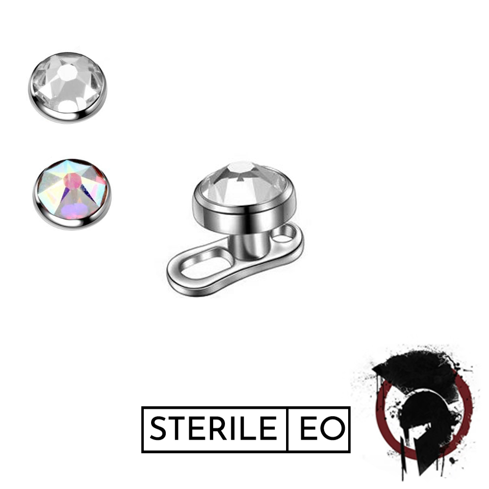 Sterile Titanium Dermal Anchor with Crystal